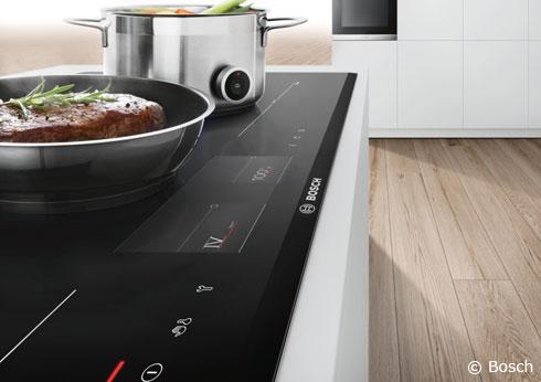 Serie 8 Kochfelder von Bosch mit intuitivem TFT- Touchdisplay